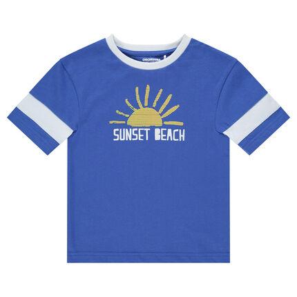 Tee-shirt manches longues en jersey avec soleil printé