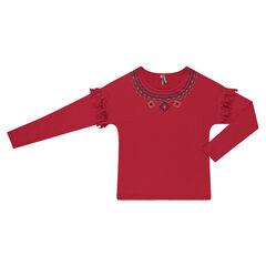 Junior - Tee-shirt à franges et motifs ethniques