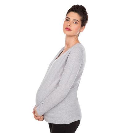 Pull de grossesse col V 100% cachemire