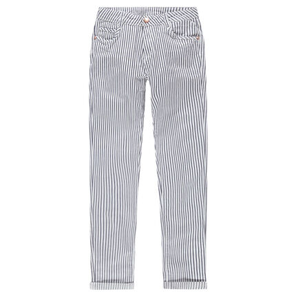 Junior - Pantalon en twill à rayures verticales all-over