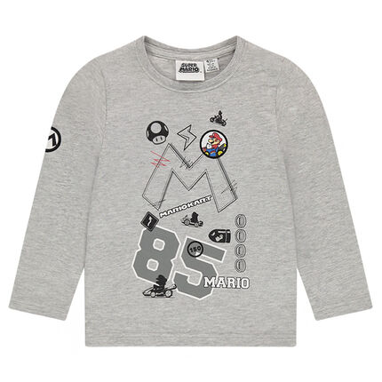Tee-shirt manches longues en jersey Super Mario™ avec badges brodés