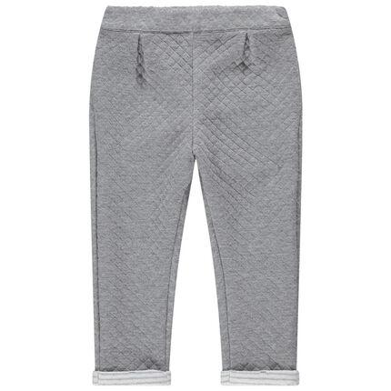 Pantalon en molleton fantaisie à taille élastiquée
