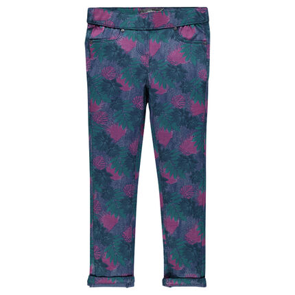 Junior - Jegging long en molleton imprimé floral