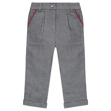 Pantalon en jacquard esprit chino