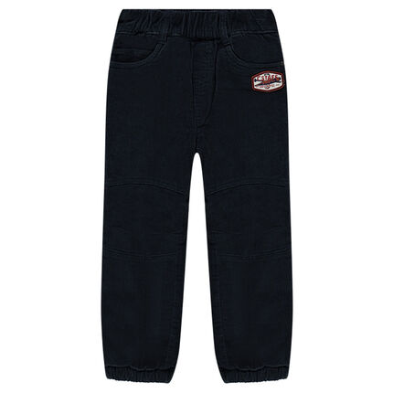 Pantalon en velours doublé polaire