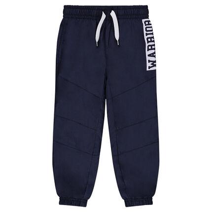 Pantalon en molleton avec inscription printée