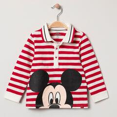 Polo manches longues en coton bio print Mickey Disney