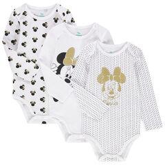 Lot de 3 bodies manches longues print Minnie Disney