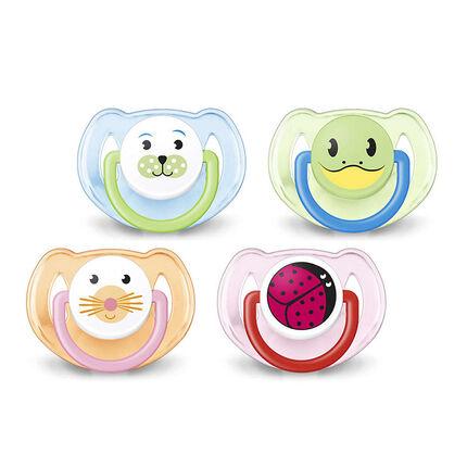 Sucette orthodontique en silicone - 6-18 mois