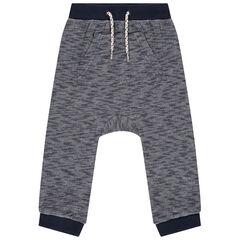 Pantalon de jogging en molleton twisté à poche kangourou