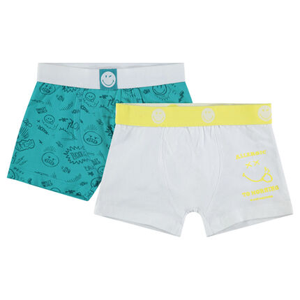 Lot de 2 boxers en coton avec prints ©Smiley