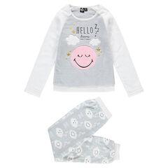 Junior - Pyjama en sherpa avec motif ©Smiley et détails brodés