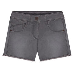 "Short en twill surteint effet used finition ""cut"""
