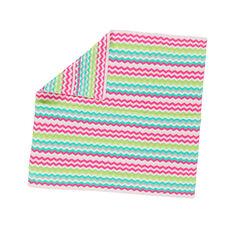 Couverture en tricot à rayures en jacquard