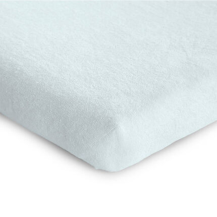 Housse de matelas de parc tricot blanc 75 x 95 cm