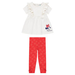 Tunique manches courtes print Minnie ©Disney et legging printé all-over