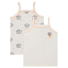 Lot de 2 maillots de corps à fines bretelles Disney print Reine des neiges