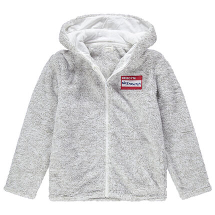 Gilet homewear en sherpa dinosaure