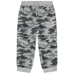 Pantalon de jogging en molleton motif camouflage all-over