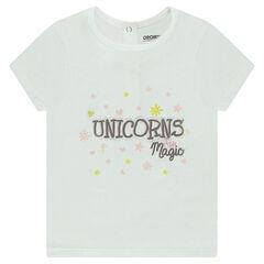 Tee-shirt en coton organique avec print fantaisie