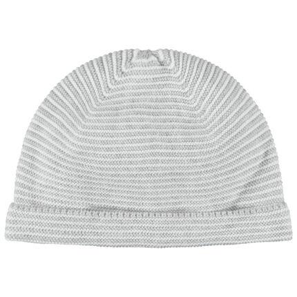 Bonnet en coton bion maille épaisse doublé jersey