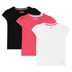 Lot de 3 tee-shirts manches courtes en jersey unis