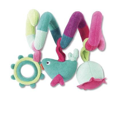 Spirale d'activités multicolore en velours
