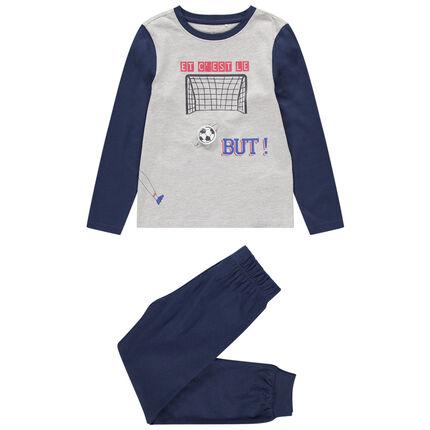 Pyjama en jersey avec motifs football printés