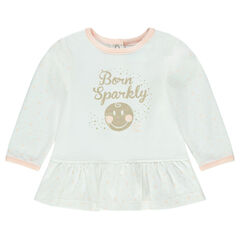 Tunique manches longues en jersey print ©Smiley Baby