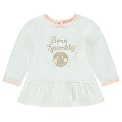 Tunique manches longues en jersey print ©Smiley Baby