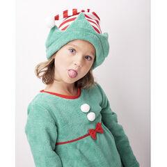 Pyjama lutin de Noël en polaire esprit déguisement avec ensemble et bonnet