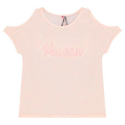 Junior - Tee-shirt manche courtes à épaules ajourées