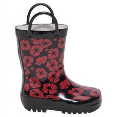 Bottes de pluie à fleurs