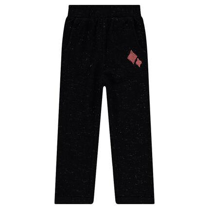 Pantalon de jogging en molleton mélangé de lurex