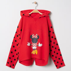 Sweat à capuche à pois print Minnie Disney