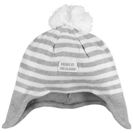 Bonnet péruvien en tricot à rayures jacquard
