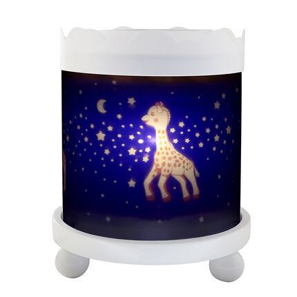 Lanterne manège magique Sophie la Girafe 12V - Bleu
