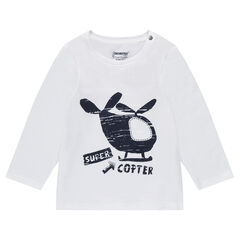 Tee-shirt manches longues en jersey avec hélicotère printé