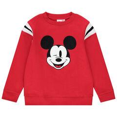 Sweat en molleton rouge pour enfant garçon print Mickey recto verso , Orchestra