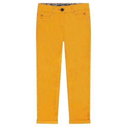 Pantalon en velours ras uni