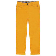 Junior - Pantalon en velours ras uni