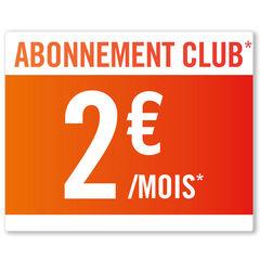 Abonnement 2€ / mois