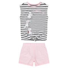 Pyjama en jersey avec haut rayé et Aristochats ©Disney printés