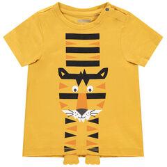 T-shirt manches courtes motif tigre