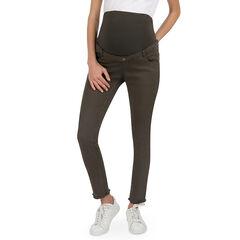 Pantalon de grossesse en twill coupe slim à poches