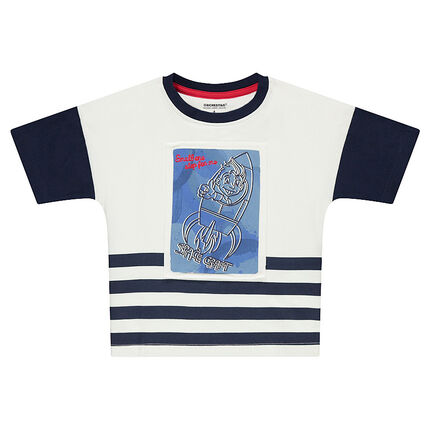 Tee-shirt manches courtes en jersey avec fusée printée