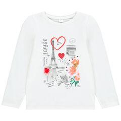 T-shirt manches longues print Paris pour enfant fille , Orchestra