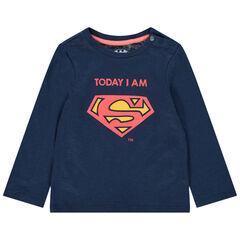 T-shirt manches longues en coton bio print Superman