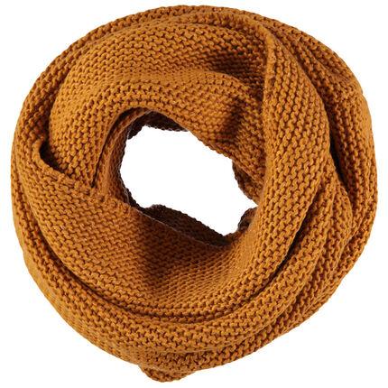 Junior - Snood en tricot mélangé de fil doré