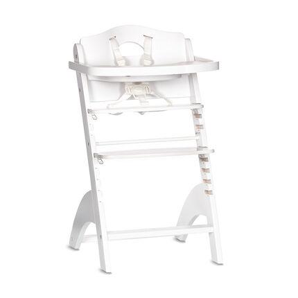 Chaise haute Zeta avec tablette - Blanc